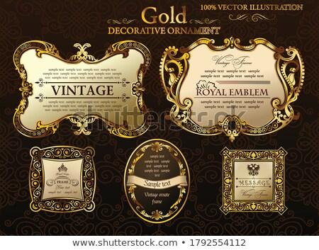 Reale vintage stile etnica etichette Foto d'archivio © SArts