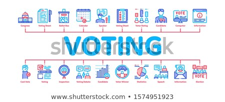 Voting And Election Minimal Infographic Banner Vector Stock photo © pikepicture