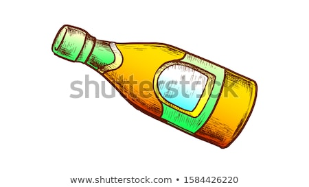 Oyster Sauce Bottle With Blank Label Retro Vector Stock photo © pikepicture