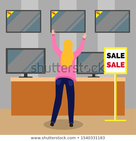 Television Equipment on Wall, Marketplace Vector Stock photo © robuart