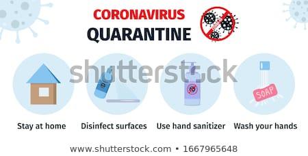 stop 2019 ncov coronavirus banner stock photo © -talex-