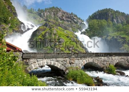 Beautiful Nature Norway. Latefossen Waterfall Odda Norway. Stock photo © cookelma