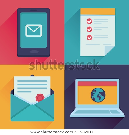 Job Message List Mail In Envelope Vector Icon Stock photo © pikepicture