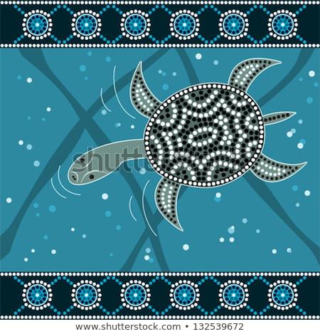 Schildpad kunst stijl vector kleur Stockfoto © ColorHaze