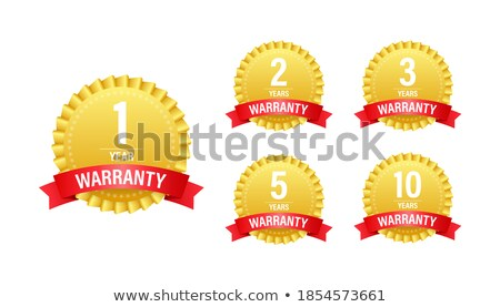 One year limited warranty icon or label, certificate for customers, warranty stamp or sticker. vecto Stock photo © kyryloff