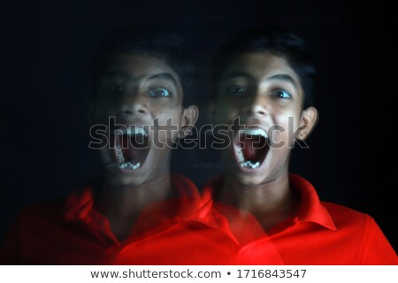 Portrait of happy boy blur and depress effect Stock photo © Lopolo