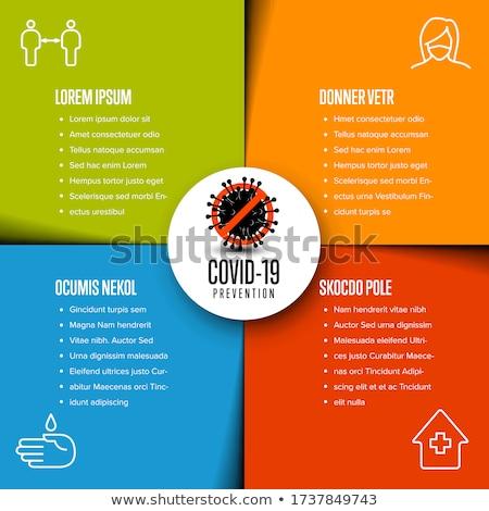 Flyer infographic template with coronavirus information Stock photo © orson