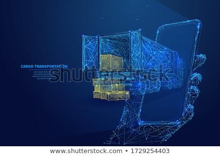 Csomag szállítmány szolgáltatások absztrakt vektor illusztrációk Stock fotó © RAStudio