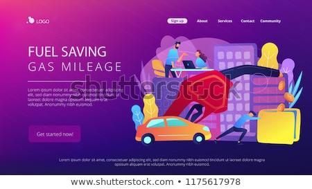 alternativa · combustível · aterrissagem · página · empresário · verde - foto stock © RAStudio