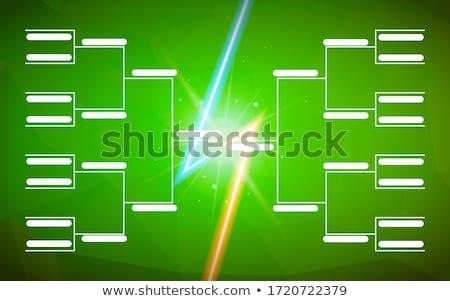 Turniej szablon 16 zespoły zielone boisko do piłki nożnej Zdjęcia stock © evgeny89