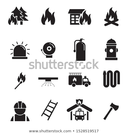 Wedstrijd brand icon eenvoudige zwarte silhouet Stockfoto © evgeny89
