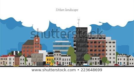 Külső klasszikus épületek európai város építészet Stock fotó © Anneleven