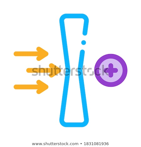 improved lens wearing effect icon vector outline illustration Stock photo © pikepicture