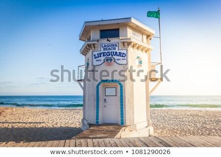 Spiaggia bagnino torre acqua mare estate Foto d'archivio © hlehnerer