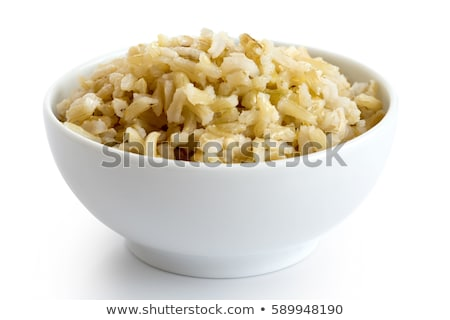 aislado · marrón · arroz · tazón · principal · alimentos - foto stock © Ansonstock