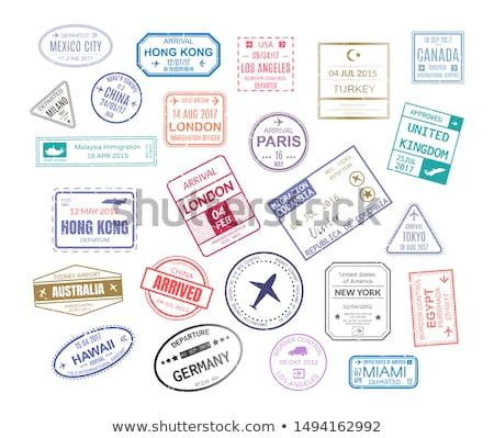 Stock photo: International  postage stamps
