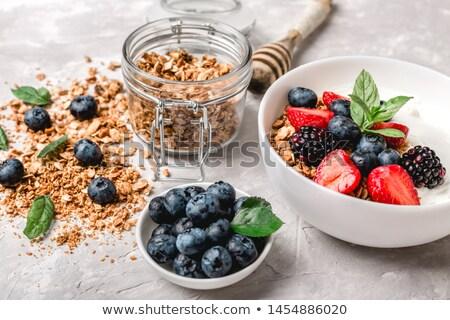 ízletes málna diók fehér érett mogyoró Stock fotó © lypnyk2