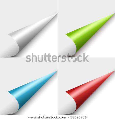Stock fotó: Szett · négy · szín · göndör · sarkok · különböző