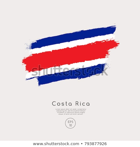 Сток-фото: Коста-Рика · Гранж · флаг · старые · Vintage · гранж · текстур