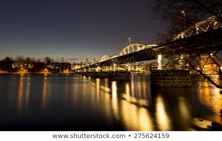 Night City panoramica città edifici notte skyline Foto d'archivio © EdelPhoto