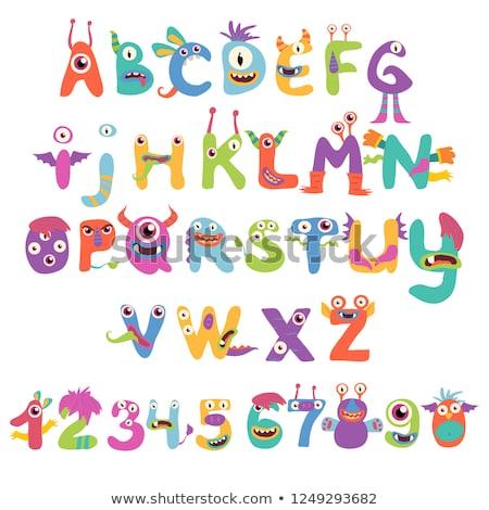 cartoon · ijs · alfabet · illustratie · ingesteld · ijzig - stockfoto © kariiika