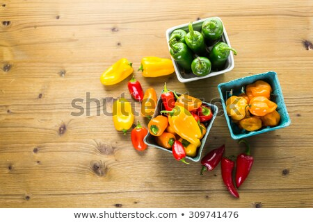 Mixed multicolored Bell and Chili peppers Stock photo © Balefire9