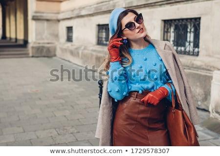 belo · outono · meninas · vetor · estilo - foto stock © glyph