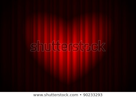 Stage with red curtain and spotlight great, heart-shaped Stock photo © dvarg