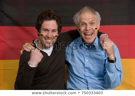 Two German soccer fans Stock photo © photography33