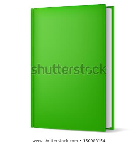 Stockfoto: Esloten · Groen · Boek · Met · Blanco · Omslag