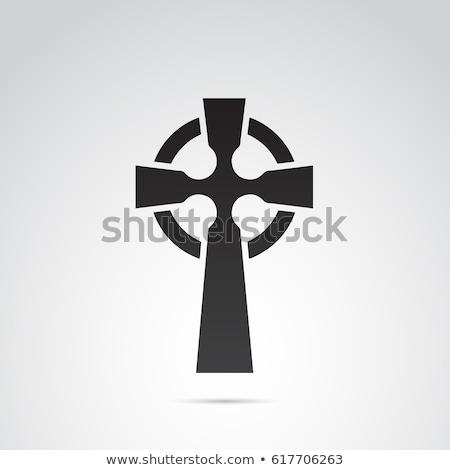 Celtic kruis oude kerkhof begraafplaats queensland Stockfoto © kikkerdirk