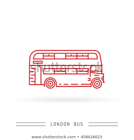 Ouderwets Londen Rood bus sightseeing Open Stockfoto © latent