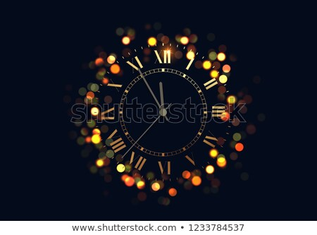 abstract shiny golden clock stock photo © pathakdesigner