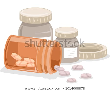 One container spilled pills Stock photo © 3523studio