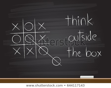 と思います · 外 · ボックス · チョーク · 黒板 - ストックフォト © bbbar