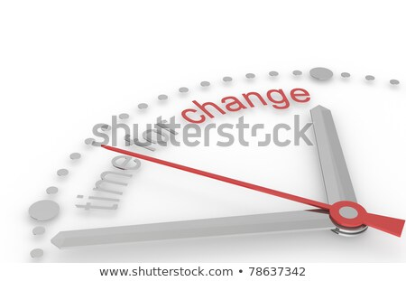 Time for Change. Red and steel Edition Stock photo © JohanH