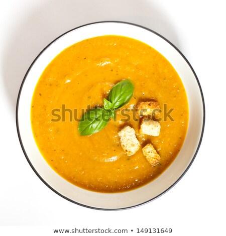 Sopa de verduras cuscurro verde comedor papa crema Foto stock © M-studio