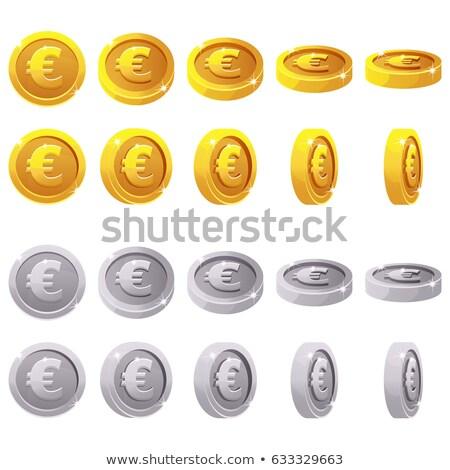 евро денежный символ иллюстрация деньги синий Сток-фото © ajlber