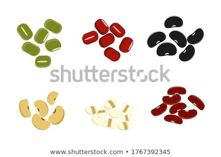 misto · secas · feijões · tigela · colher - foto stock © witthaya