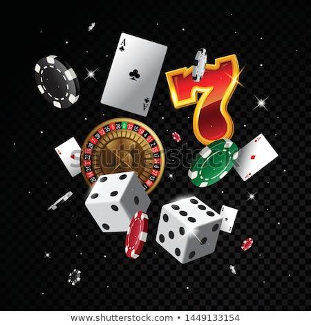 hazárdjáték · illusztráció · kaszinó · elemek · rulett · kártyapakli - stock fotó © articular