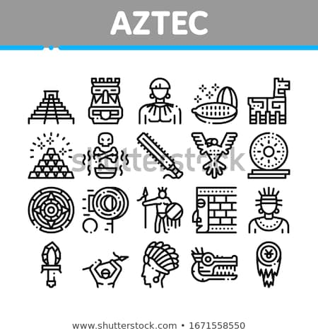 Aztec symbol Cozcacuauhtli Stock photo © sahua