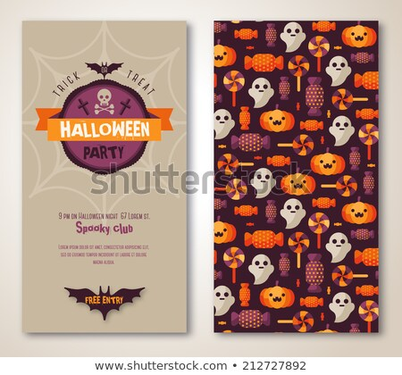 deux · halloween · bannières · design · vecteur · illustrations - photo stock © AnnaVolkova