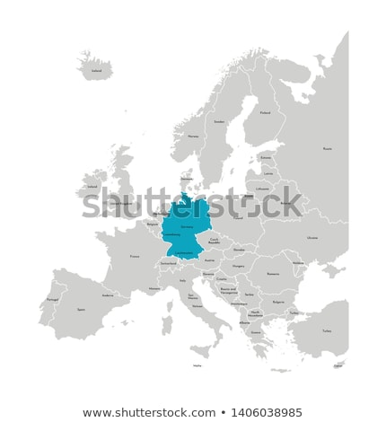 map of european countries stock photo © experimental