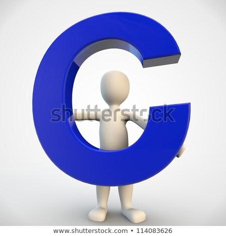 Karakter Blauw letter c 3d render Stockfoto © Giashpee