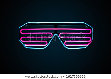 Neon Eyeglass Symbol Stock photo © experimental