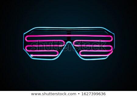 неоновых символ черный глаза медицинской фон Сток-фото © experimental