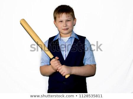 baseball · gyakorlat · baseball · játékos · elvesz · hinta · tavasz - stock fotó © jayfish
