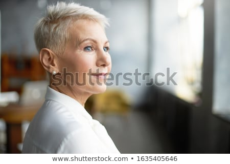 Close-up shot of a pensive businesswoman Stock photo © photography33