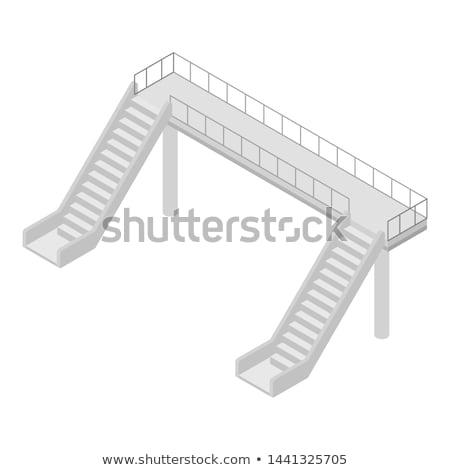 Zárt út izolált fehér helyszín építkezés Stock fotó © shutswis