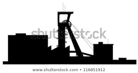 kopalni · maszyny · węgiel · wydobycie · otwarte · wieczór - zdjęcia stock © njaj